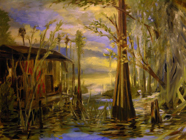 Sunlight On The Swamp Art Print