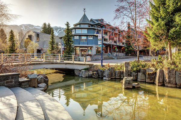 Photograph - Sunlight On The Whistler Village Stroll by Pierre Leclerc Photography