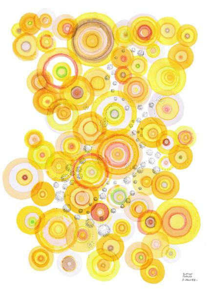 Drawing - Sunlight Ripples by Regina Valluzzi