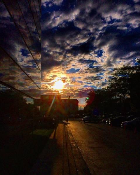 Photograph - Sunlit Cloud Reflection by Nick Heap