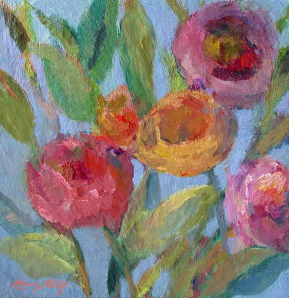 Painting - Sunlit Flower Garden by Mary Wolf