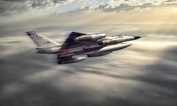Supersonic Speed Wall Art - Digital Art - Sunlit Hustler by Peter Chilelli