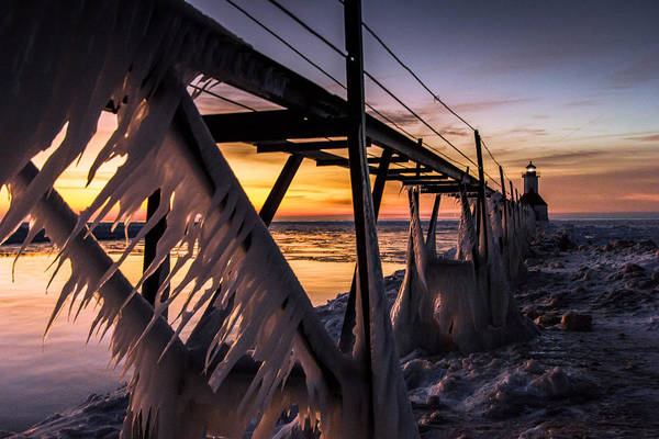 Wall Art - Photograph - Sunlit Icicles  by Jackie Novak