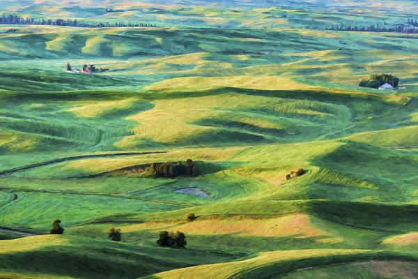 Farming Digital Art - Sunlit Lands II by Jon Glaser