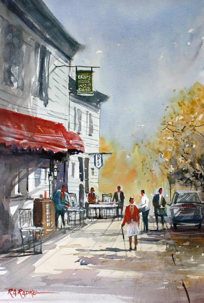 Wall Art - Painting - Sunlit Sidewalk - Neshkoro by Ryan Radke