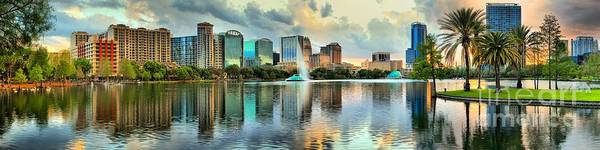 Photograph - Sunning Orlando Skyline Reflections by Adam Jewell