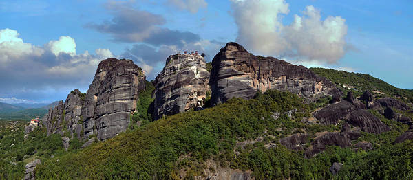 Wall Art - Photograph - Sunny Afternoon In Greek Meteora by Jaroslaw Blaminsky