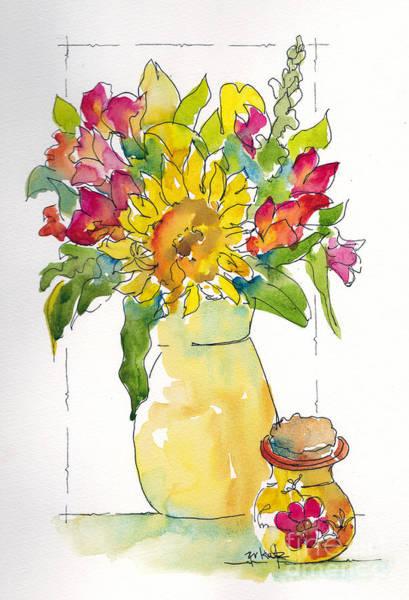 Painting - Sunny Bouquet by Pat Katz
