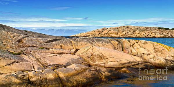 Photograph - Sunny Cliffs Sweden by Lutz Baar