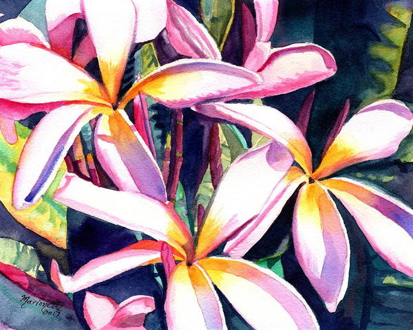 Painting - Sunny Day Plumerias by Marionette Taboniar