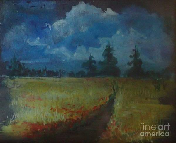 Painting - Sunny Field by Christina Verdgeline