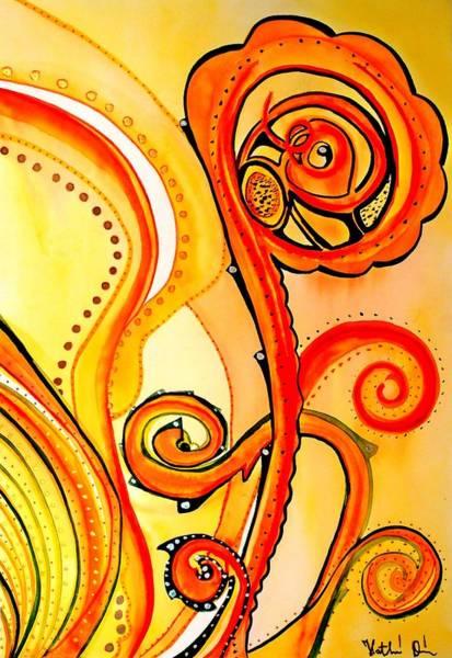 Painting - Sunny Flower - Art By Dora Hathazi Mendes by Dora Hathazi Mendes