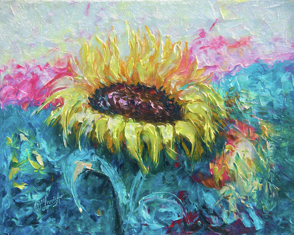Painting - Sunny Flower by OLena Art - Lena Owens
