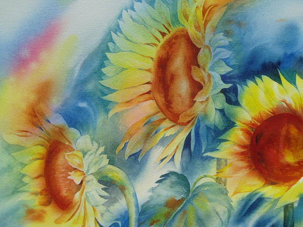 Painting - Sunny Flowers I by Tara Moorman