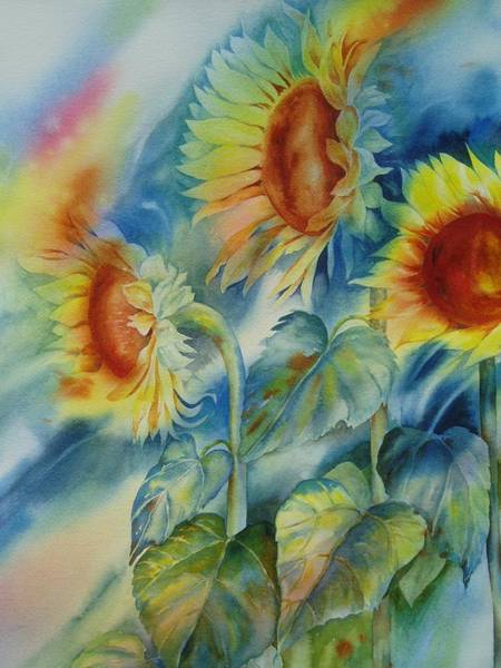 Painting - Sunny Flowers by Tara Moorman