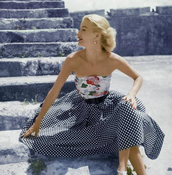 Photograph - Sunny Harnett On Stone Steps by Frances McLaughlin-Gill