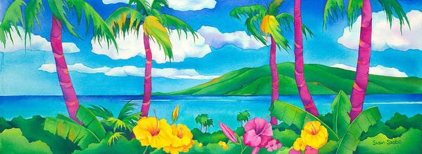 Wall Art - Painting - Sunny Maui by Susan Szabo