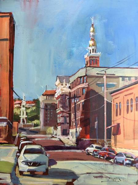Courthouse Painting - Sunny Morning In Dubuque by Spencer Meagher