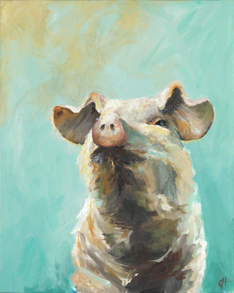 Wall Art - Painting - Sunny Pig by Cari Humphry