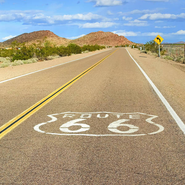 Historic Route 66 Photograph - Sunny Route 66 by Lutz Baar