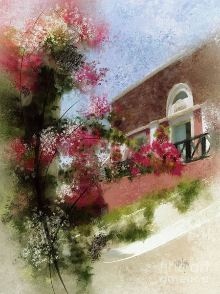 Wall Art - Digital Art - Sunny Santorini by Lois Bryan