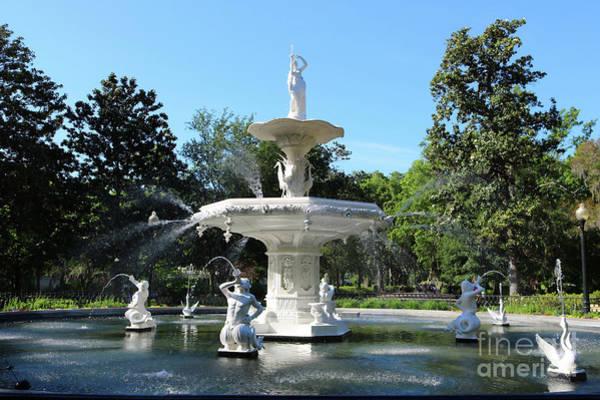 Photograph - Sunny Savannah Forsyth Park Fountain by Carol Groenen