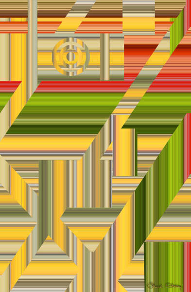 Digital Art - Sunny Side Abstract by Chuck Staley