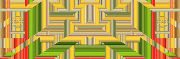 Digital Art - Sunny Side Abstract Wide by Chuck Staley
