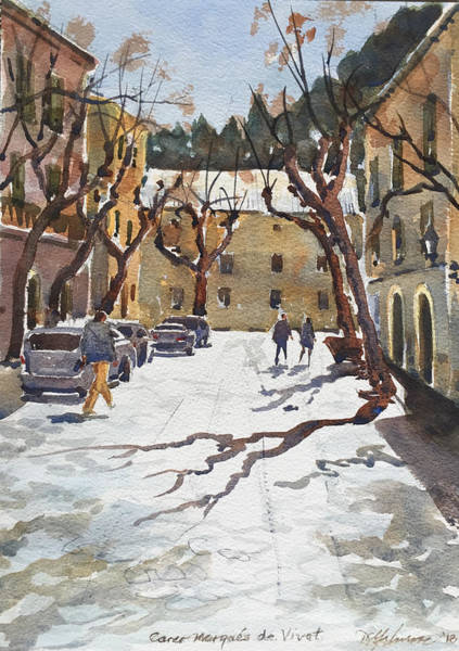 Painting - Sunny Street, Valledemossa by David Gilmore