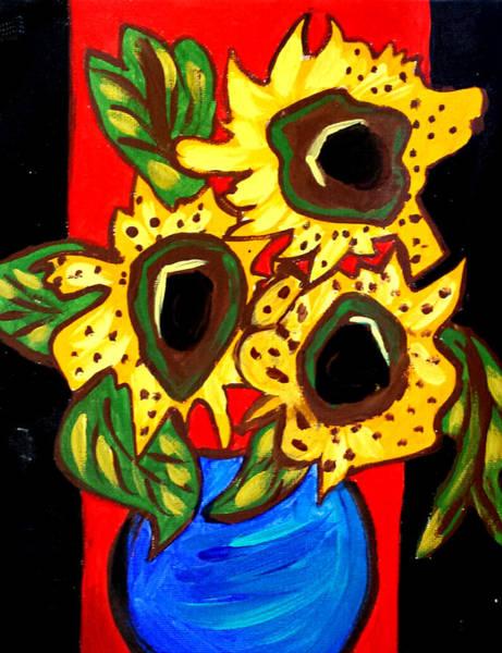 Painting - Sunny Sunflowers 1 by Nikki Dalton