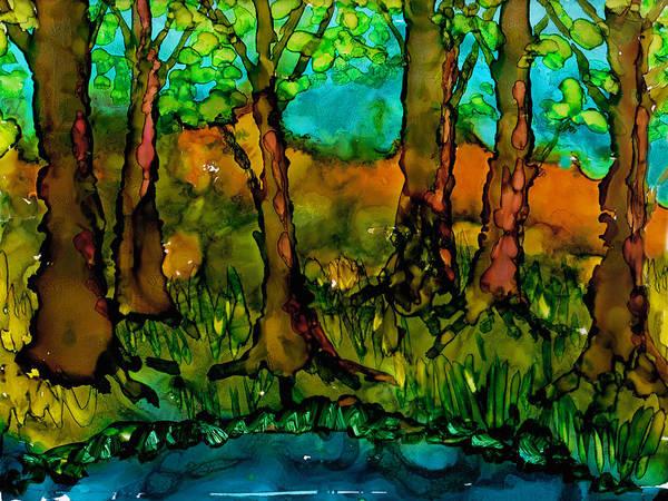Painting - Sunny Trees by Angela Treat Lyon