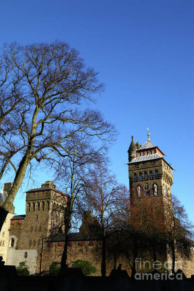 Photograph - Sunny Winter Day Cardiff Castle by James Brunker