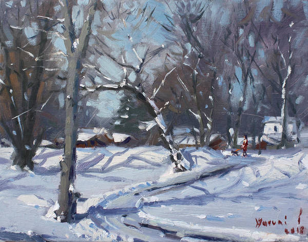 Wall Art - Painting - Sunny Winter Day by Ylli Haruni