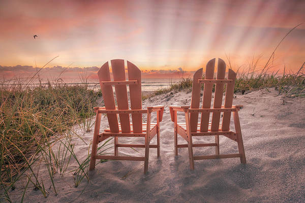 Muscovy Photograph - Sunrays At Dawn By The Sea by Debra and Dave Vanderlaan