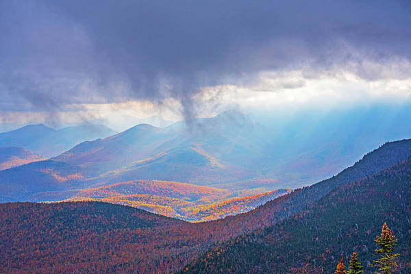 Photograph - Sunrays Over The Adirondacks From Little Rpr Keene Valley Ny by Toby McGuire