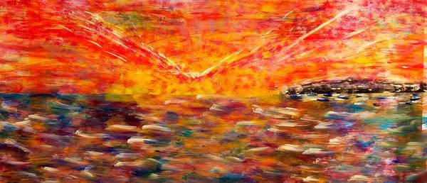 Wall Art - Painting - Sunrise #2 15-8 by Patrick OLeary