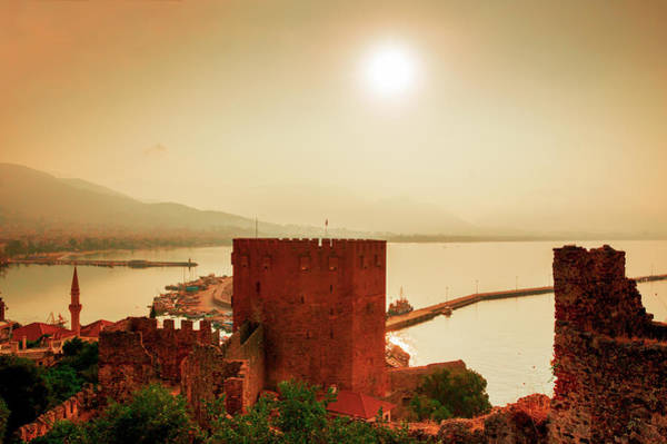 Photograph - Sunrise Above The Red Tower Of Alanya by Sun Travels