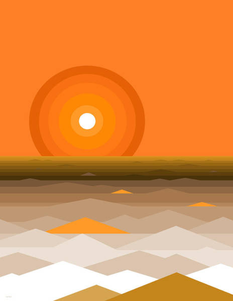 Digital Art - Sunrise Abstract In Orange by Val Arie