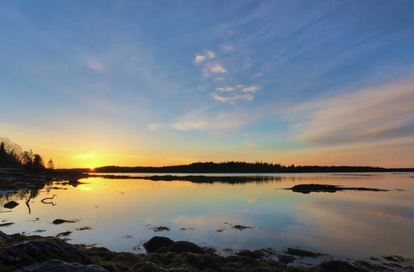 Photograph - Sunrise Across Hornbarn Cove And Back River Near Friendship Maine by Juergen Roth