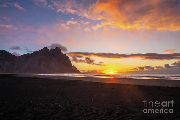 Wall Art - Photograph - Sunrise Along The Beach In Iceland by Mike Reid