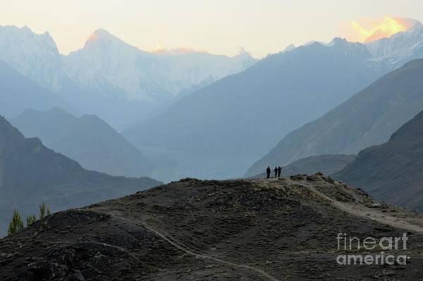 Photograph - Sunrise Among The Karakoram Mountains In Hunza Valley Pakistan by Imran Ahmed