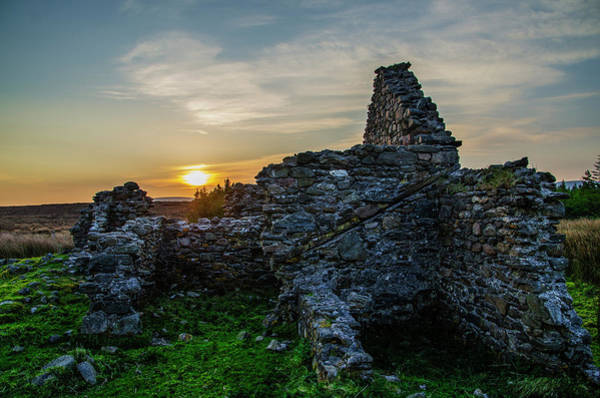 Photograph - Sunrise Among The Ruins - Lough Easkie Hunting Lodge by Bill Cannon