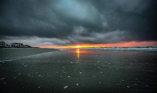 Photograph - Sunrise And Storm Clouds - Isle Of Palms, Sc by Donnie Whitaker
