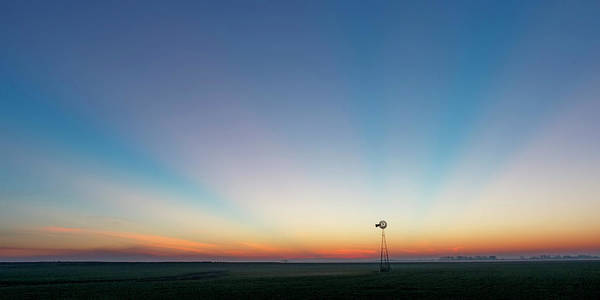 Photograph - Sunrise And Windmill 03 by Rob Graham