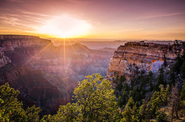Photograph - Sunrise At Angel's Window Grand Canyon by Scott McGuire