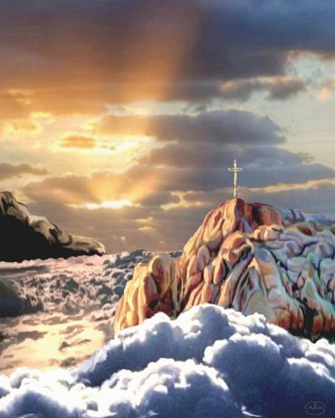 Redemption Painting - Sunrise At Calvary by Ron Chambers