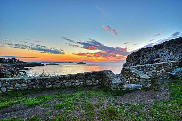 Photograph - Sunrise At Castle Rock Marblehead Ma Rocky Coast by Toby McGuire