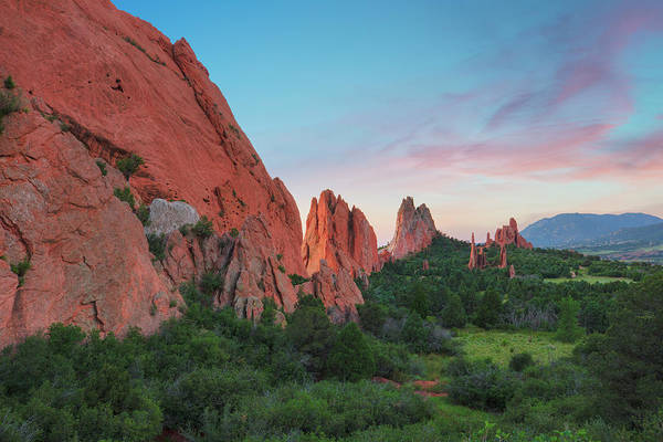 Grace Cathedral Photograph - Sunrise At Garden Of The Gods 1 by Rob Greebon
