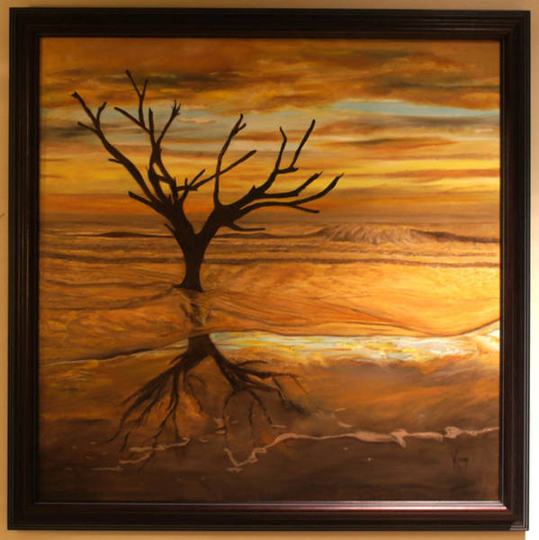 Sunrise At Hunting Beach Art Print