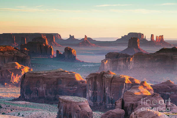 Wall Art - Photograph - Sunrise At Hunt's Mesa, Monument Valley, Arizona, Usa by Matteo Colombo